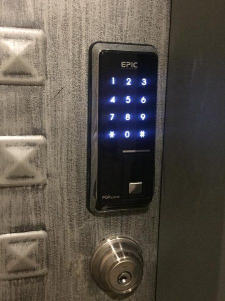 EPIC 指紋密碼電子鎖 外